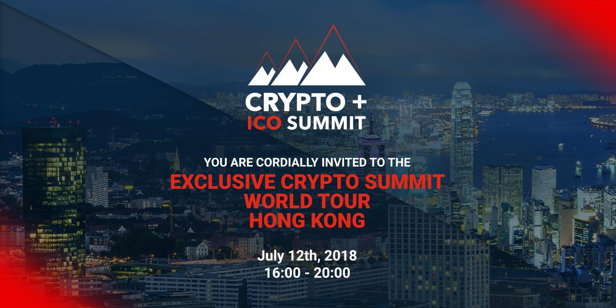 Exclusive Crypto Summit World Tour Hong Kong