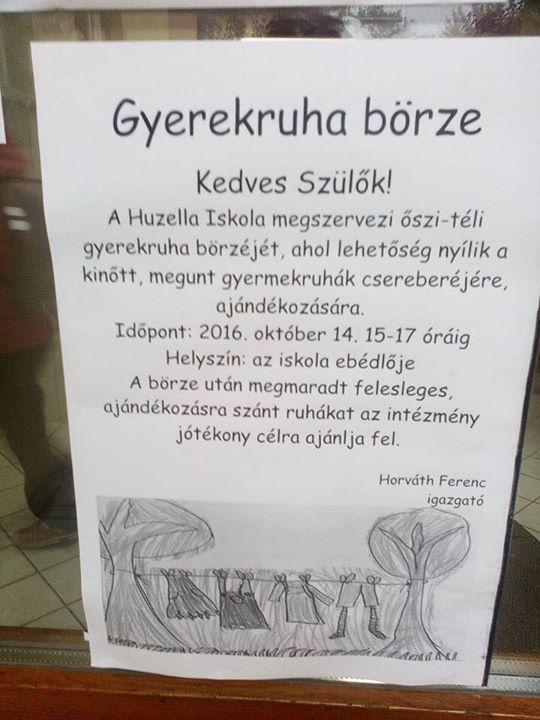 Gyerekruha börze a Huzellában at Huzella Tivadar Általános Iskola f11962e0a7