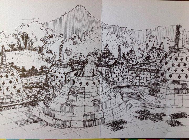 Is Jogja Sketching Sharing 61 At Candi Borobudur Magelang Jawa