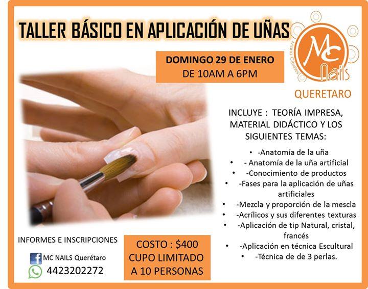Taller Básico En Aplicación De Uñas at MC NAILS Querétaro, Querétaro