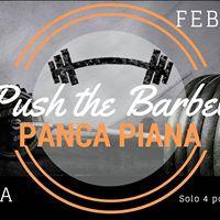 Push the barbell - PANCA PIANA