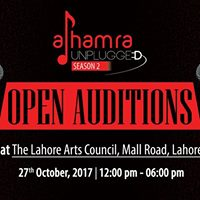 Open Auditions Alhamra Unplugged Season-2
