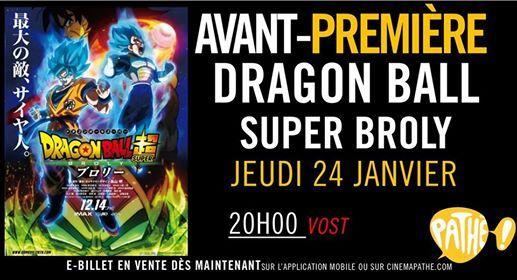 Avant-Premire  Dragon Ball Super Broly
