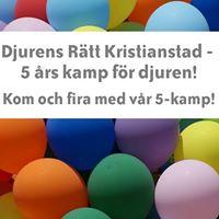 Djurens Rtt Kristianstad fyller 5 r - fira med oss