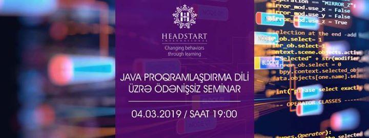 Java Proqramladrma Dili Seminar