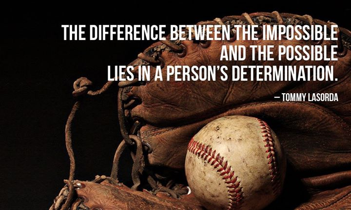the difference between impossible and the The difference between the impossible and the possible lies in a person's determination - tommy lasorda sports inspirational life quote boy girl team athlete picture art image living room bedroom home decor peel & stick sticker graphic design vinyl wall decal 20x20.