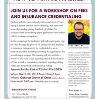 Cutting Through the Red Tape Fees &amp Insurance Credentialing for MHPs