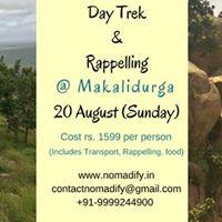Day Trek &amp Rappelling - 20 Aug