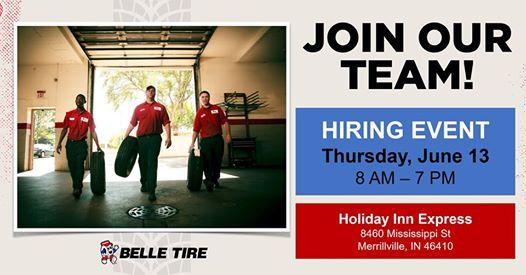 Belle Tire Career Fair - Merrillville IN