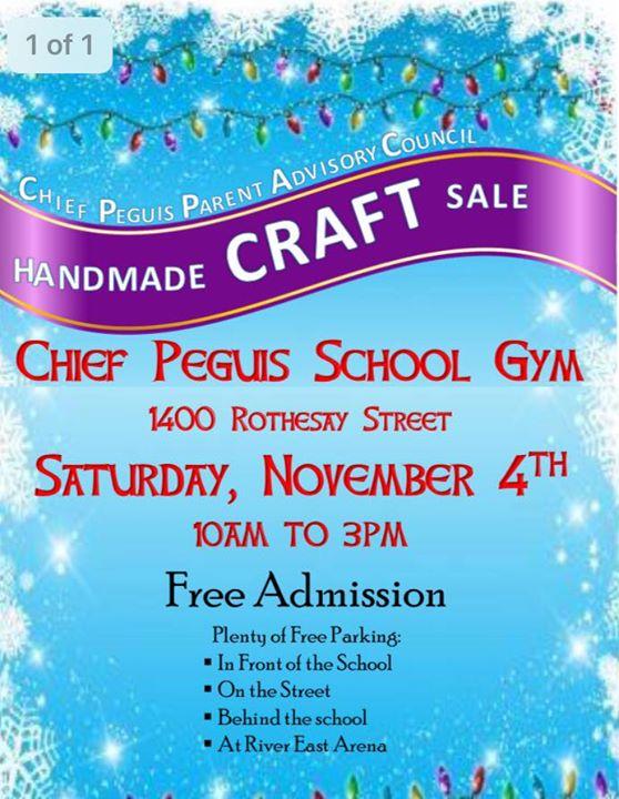 Chief Peguis School Handmade Sale