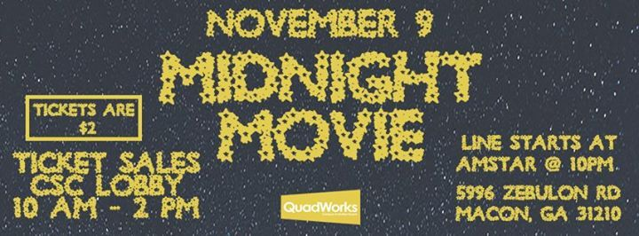 Midnight Movie At Amstar 16 Theater Macon 5996 zebulon road macon, ga 31210. all events in city