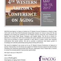 4th Western Arizona Conference on Aging
