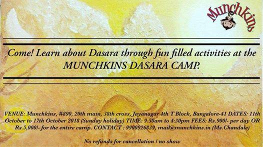 Munchkins Dasara Camp