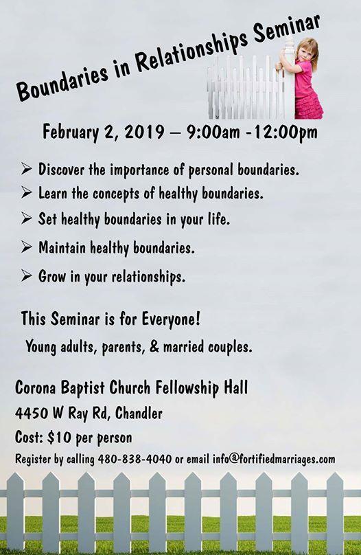 Boundaries in Relationships Seminar