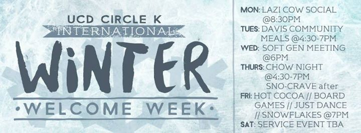 UCD CKI] Winter Welcome Week 2016 at Circle K International