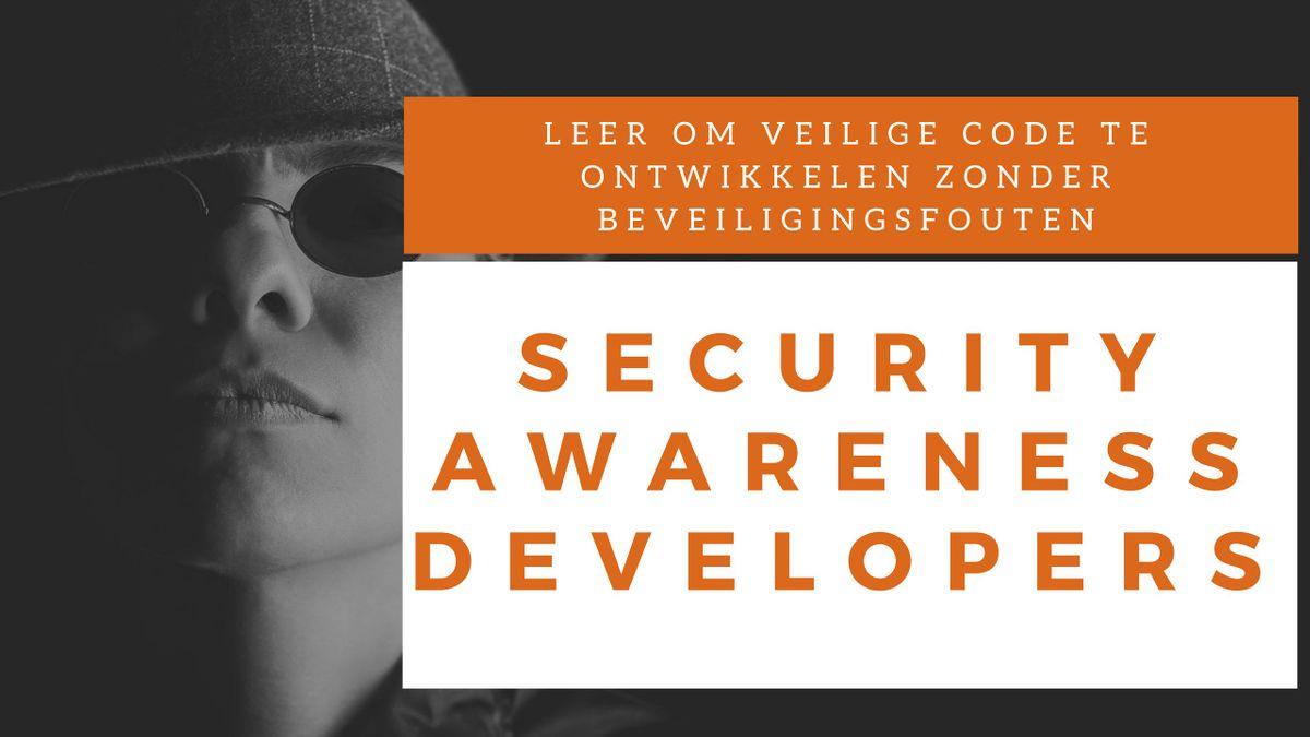 Security Awareness Developers Klassikale Training (Nederlands)