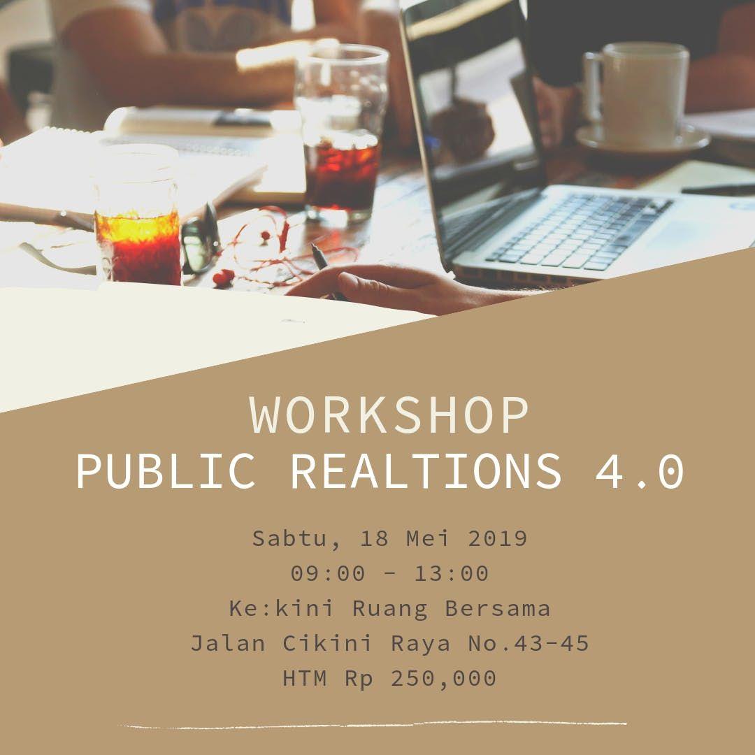 (PAID WORKSHOP) PUBLIC RELATIONS 4.0