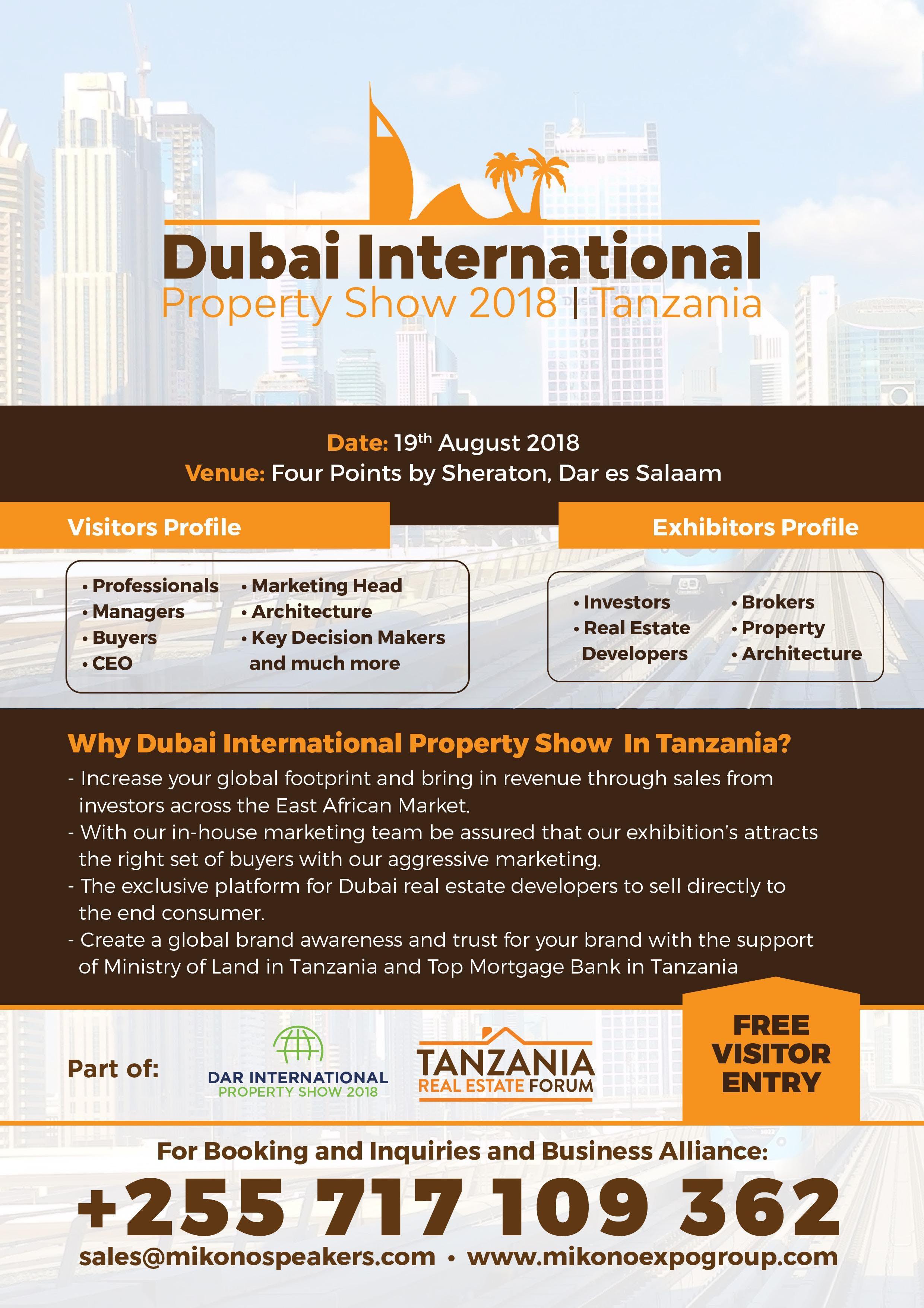 Dubai International Property show 2018Tanzania