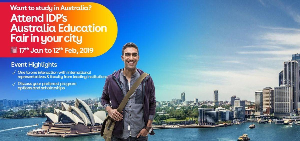 Study in Australia-Attend IDPs FREE Education Fair in Vijayawada (4th Feb 2019)
