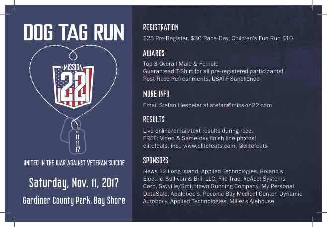 Dog Tag Run at Gardiner County Park, West Bay Shore