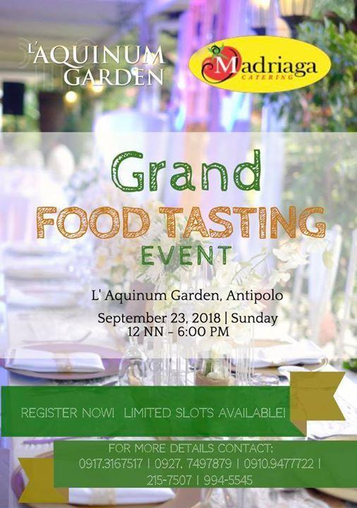 Madriagas Catering Grand Food Tasting at LAquinum Garden