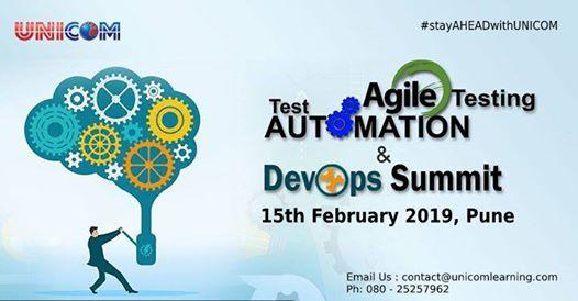 Agile TestingTest Automation & Devops Summit 2019