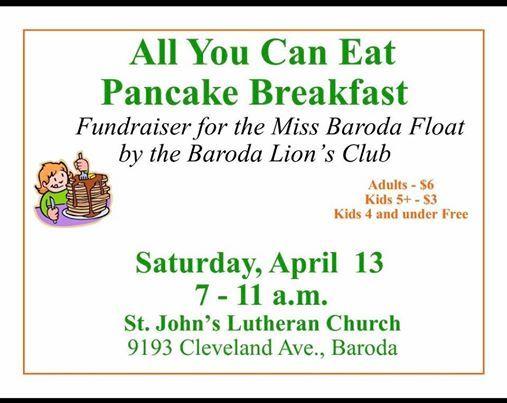 Baroda Lions Pancake Breakfast