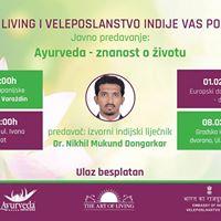 Besplatna predavanja - Ayurveda - znanost o ivotu
