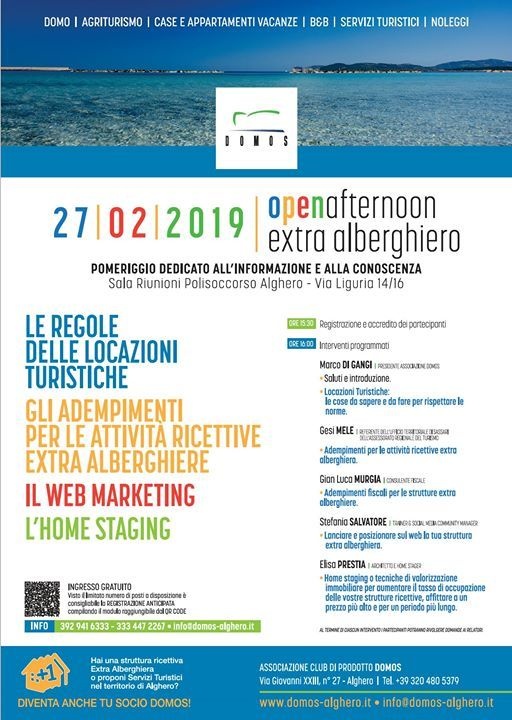Open afternoon extra alberghiero