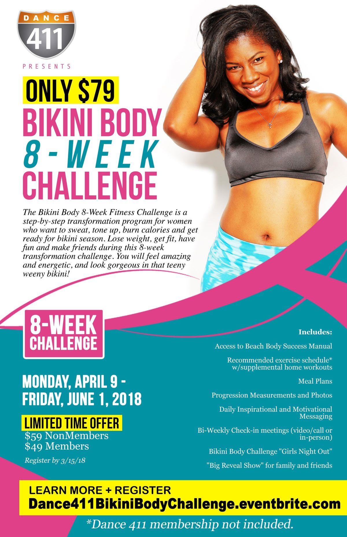 Dance 411 Adult Bikini Body 8-Week Fitness Challenge 2019