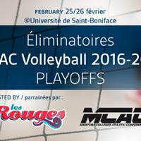 liminatoires MCAC Volleyball 2016-2017 Playoffs