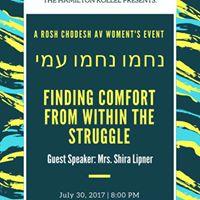 Womens Rosh Chodesh Av Event