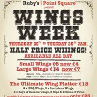 Wings Week - Half Price Wings