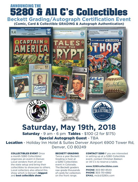 5280 All Cs Collectibles Show Featuring Beckett Grading At