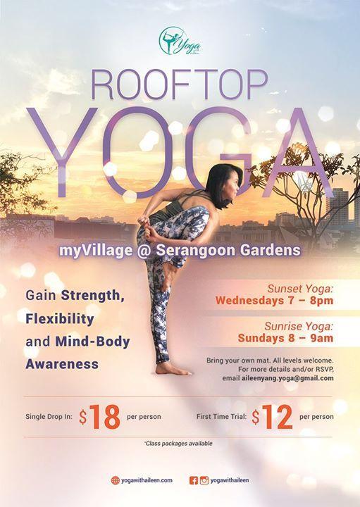 Rooftop Sunrise Yoga at myVillage Serangoon Gardens