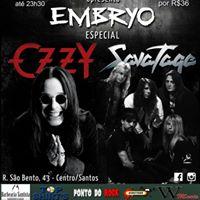 Especial Ozzy &amp Savatage com Banda Embryo