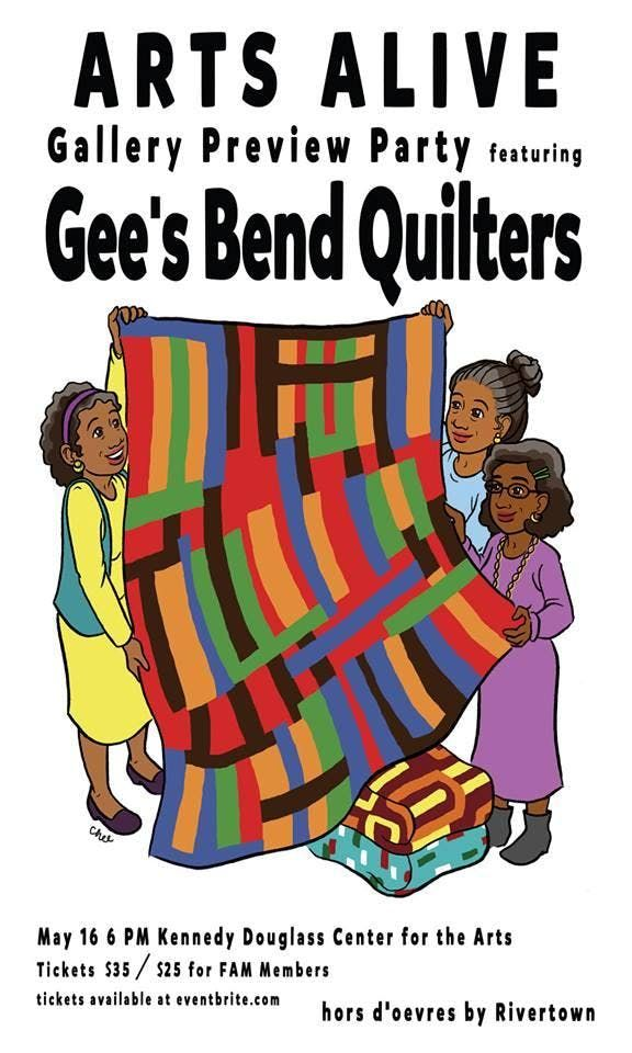 Arts Alive Gallery Preview Party Featuring the Gees Bend