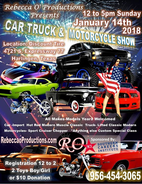 New Year Car Show Toy Drive At Discount Tire Harlingen