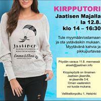 Kirpputori Jaatisen Majalla la 12.8.