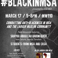 Black In MSA - Postponed