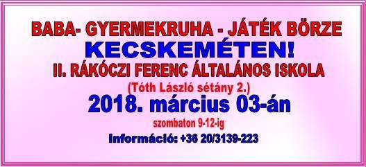 366c140e99 Bababörze Kecskeméten! at II.Rákóczi Ferenc Általános Iskola ...