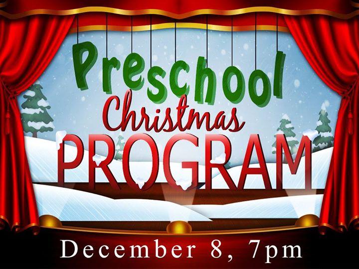preschool christmas program