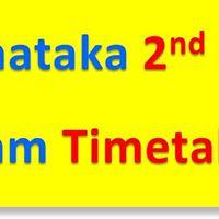 Karnataka 2nd PUC Exam Time Table
