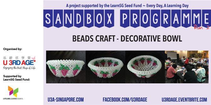 Beads Craft - Decorative Bowl (28 Jun and 5 Jul 1.30pm)