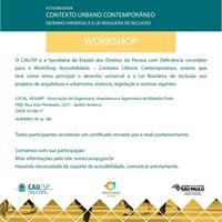 Workshop &quotAcessibilidade e Desenho Universal&quot