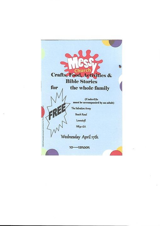 Easter Messy Church At Lowestoft Citadel Salvation Army Lowestoft