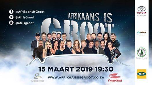 Afrikaans is Groot Kaapstad 15 Maart 2019