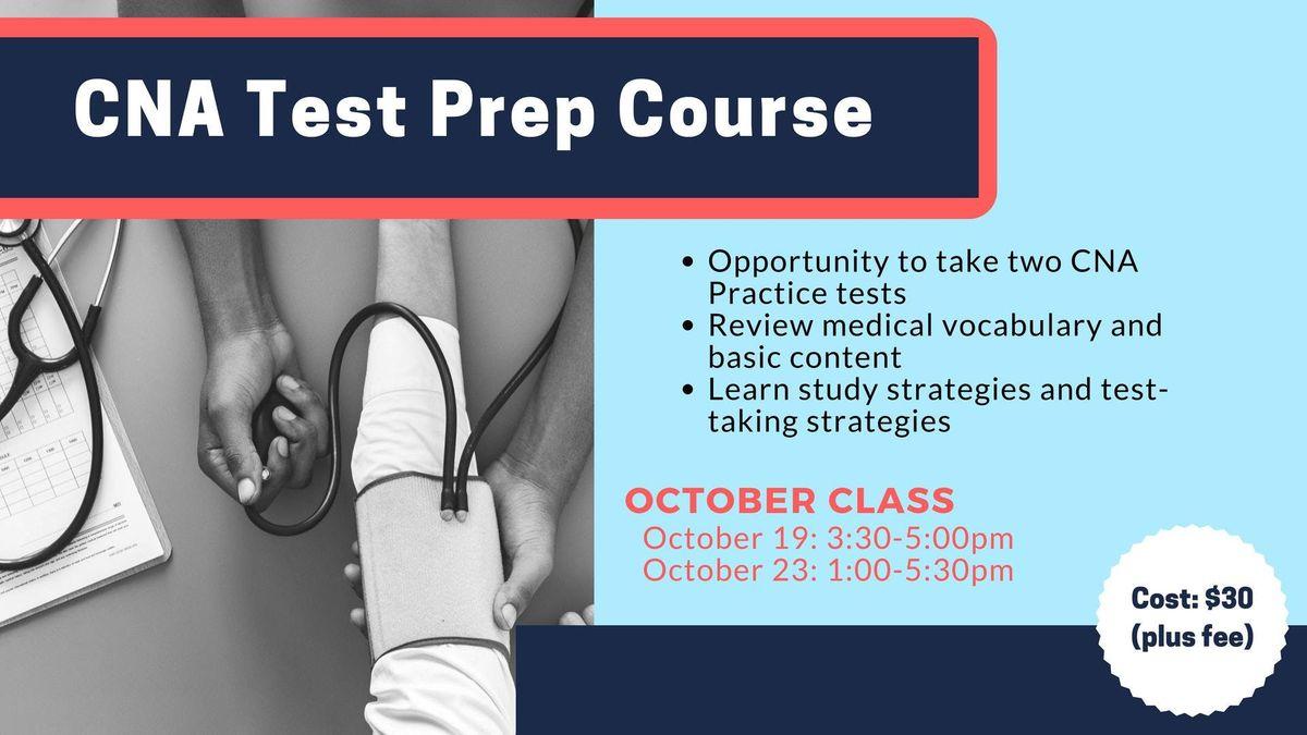 CNA Test Prep - October 2018 at Methodist College, Peoria