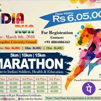 Run India Run Marathon 2018