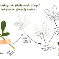 Botanische stempel snijden met Thea Reedeker